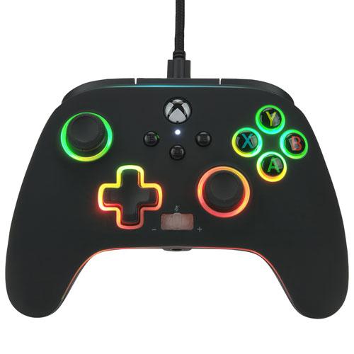 Manette avec fil optimisée Spectra Infinity Enhanced de PowerA pour Xbox Series X|S - Noir