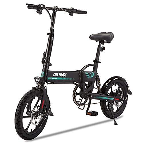 "Gotrax Folding Electric Bike 16"" - 15.5MPH & 27.9 Mile Range - 350W Motor Lightweight Commuter E-Bike"