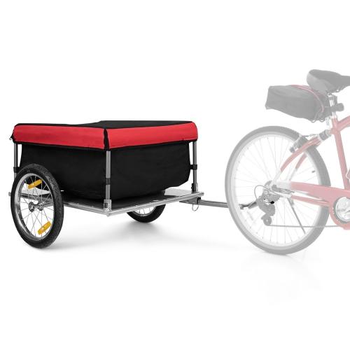 Costway Bike Cargo / Luggage Trailer w/ Folding Frame & Quick Release Wheels Red/Black