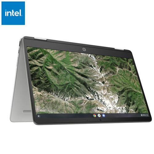 Chromebook x360 tactile 2-en-1 14 po de HP-Argenté