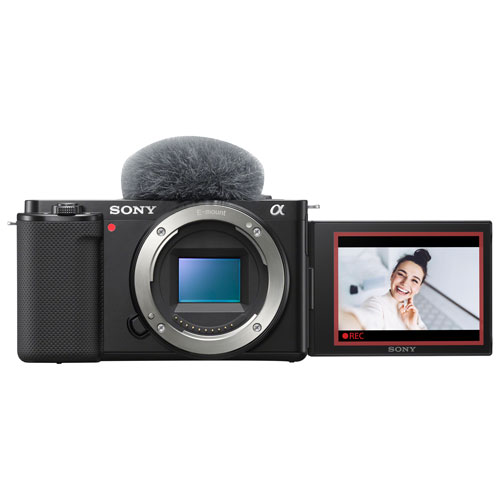Sony Alpha ZV-E10 APS-C Interchangeable Lens Mirrorless Vlog Camera - Black