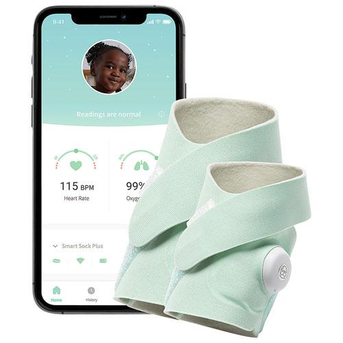 Owlet Smart Sock Plus Heart Rate/Oxygen Baby Monitor - Mint
