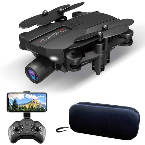 HJ66 Mini Drone avec Caméra 1080P Pliable Quadcopter avec Grand Angle FPV Trajectoire Vidéo en Direct App Contrôle Altitude Maintien et Batteries