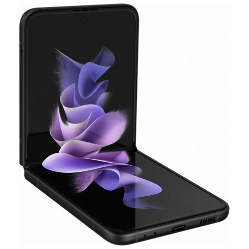 TELUS Samsung Galaxy Z Flip3 5G 128GB - Phantom Black - Monthly Financing