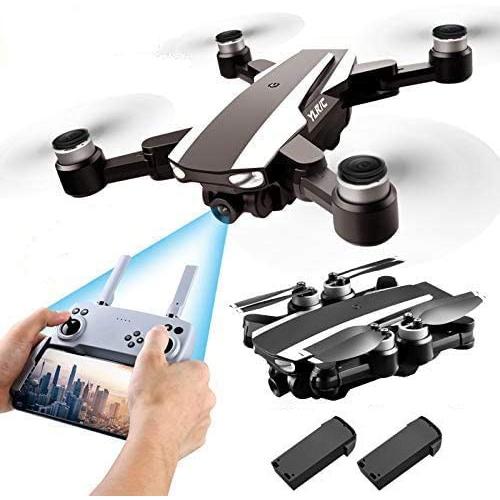 S105 PRO Drone GPS 5G Wifi Professionnel 4K HD Double Caméra Stabilisateur de Drones Moteur Brushless, Drone pour Adulte avec 2 Batteries