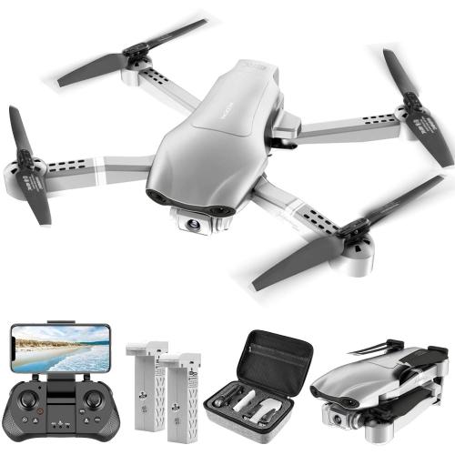 Drone GPS HOCO F3 avec caméra 4K pour adultes, quadrirotor RC avec vidéo en direct 5G FPV pour débutants, 2 piles et étui de transport, retour automa