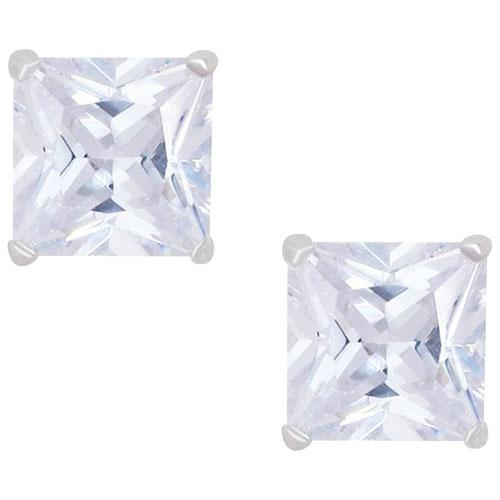 Boucles d'oreilles en argent sterling avec zircons cubiques blancs Le Reve Collection