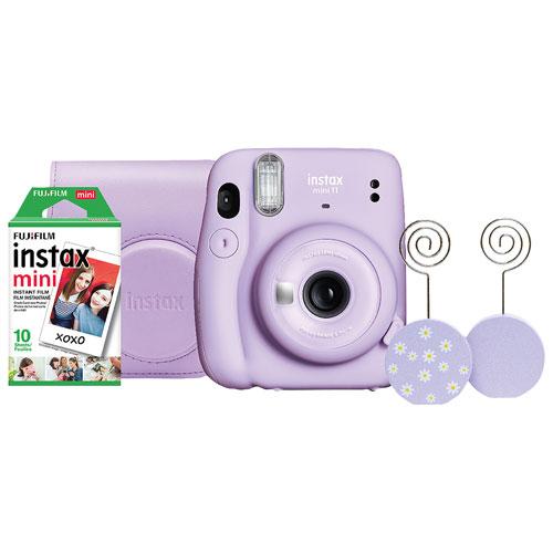 Ensemble avec appareil photo instantané Instax Mini 11 de Fujifilm - Lilas