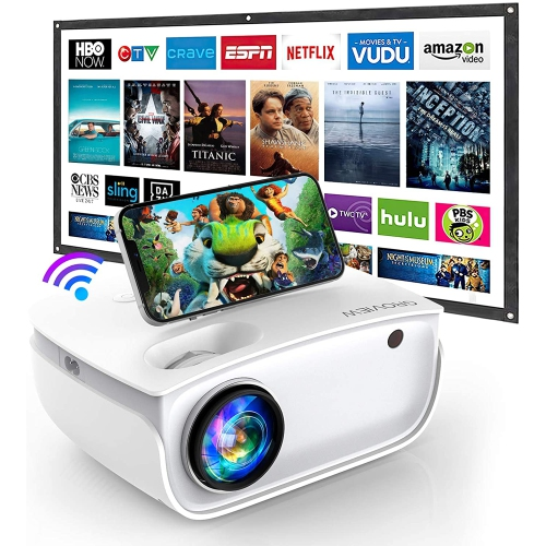 Groview 1080P Full HD 6500L WiFi Mini Home/Outdoor Projector