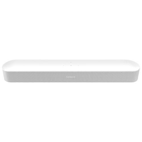 Barre de son Beam de Sonos avec Alexa d'Amazon et Assistant Google intégrés - Blanc