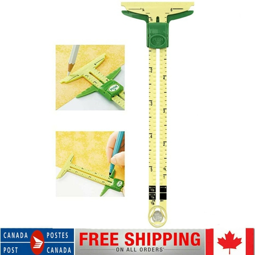 5 In 1 Dress Making Marking Clothes Measuring Quilting Sliding Gauge Sewing Tool