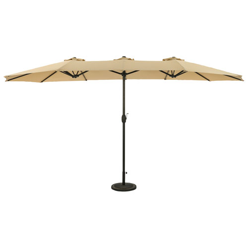 Parasol autoportant de 9 pi Eclipse d'Island Umbrella - Champagne