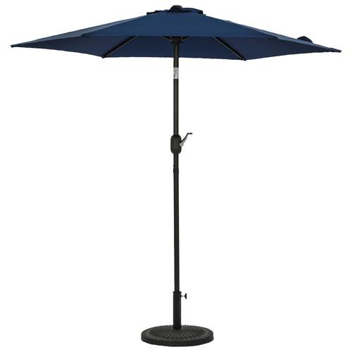 Parasol de patio hexagonal autoportant de 7,5 pi Bistro d'Island Umbrella - Bleu marine