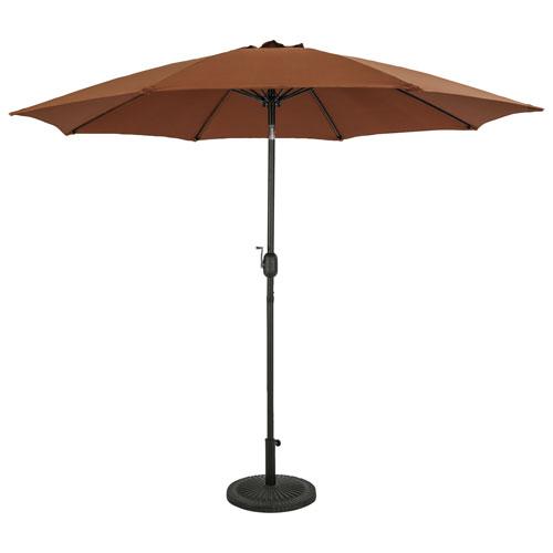 Parasol de patio octogonal autoportant de 9 pi Parisian d'Island Umbrella - Café
