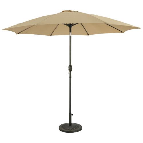 Parasol de patio octogonal autoportant de 9 pi Parisian d'Island Umbrella - Champagne