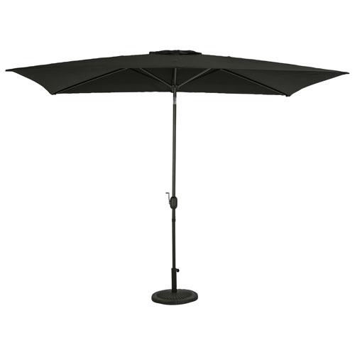 Parasol de patio rectangulaire autoportant de 6,5 pi Bimini d'Island Umbrella - Noir