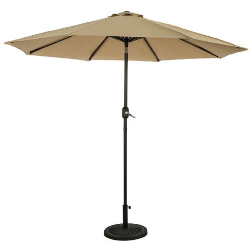 Parasol de patio octogonal autoportant de 9 pi Mirage II d'Island Umbrella - Champagne