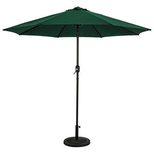 Parasol de patio octogonal autoportant de 9 pi Mirage II d'Island Umbrella - Vert chasseur