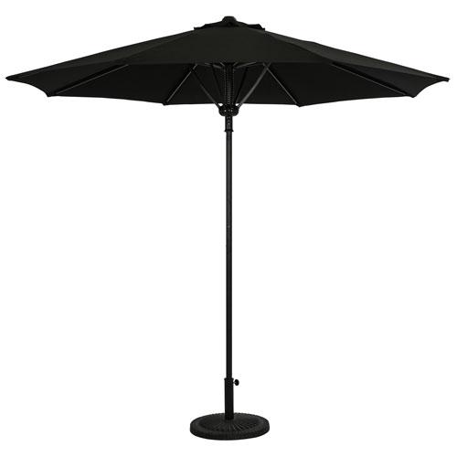 Parasol de patio octogonal autoportant de 9 pi Cabo d'Island Umbrella - Noir