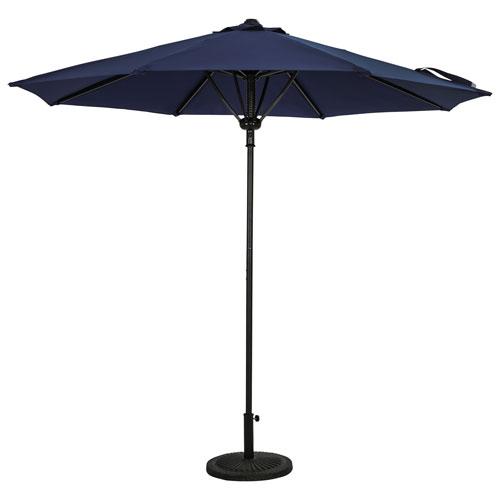 Parasol de patio octogonal autoportant de 9 pi Cabo II d'Island Umbrella - Bleu marine