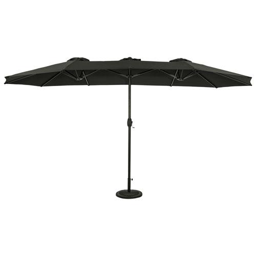 Parasol autoportant de 9 pi Eclipse d'Island Umbrella - Noir