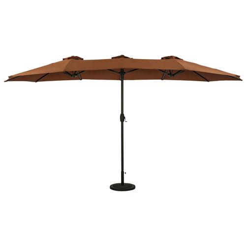 Parasol autoportant de 9 pi Eclipse d'Island Umbrella - Café