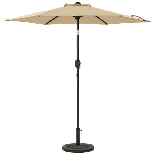 Parasol de patio hexagonal autoportant de 7,5 pi Bistro d'Island Umbrella - Champagne