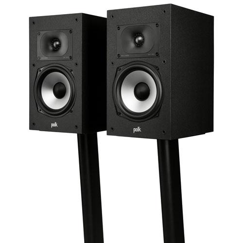 Haut-parleur d'étagère de 200 W Monitor XT20 de Polk Audio - Paire - Noir minuit