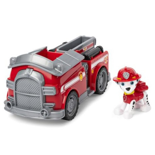 Paw Patrol Marshall's Fire Engine Vehicle with Collectible Figure for Kids Aged 3 & Up