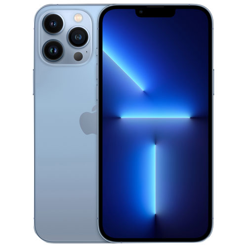 Fido Apple iPhone 13 Pro Max 128GB - Sierra Blue - Monthly Financing