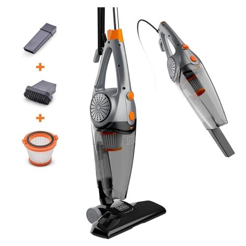 Black+Decker - Dry Corded 3-in-1 Stick Vacuum - Orange