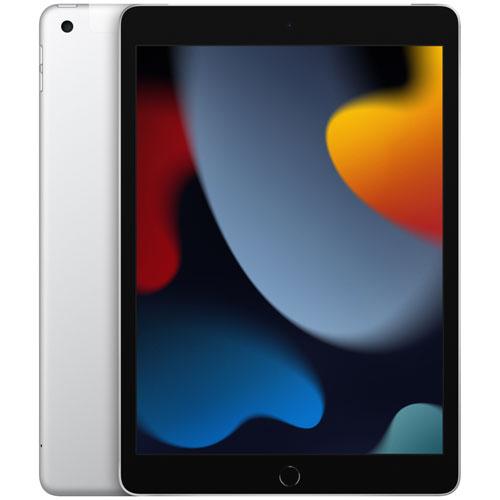 """Apple iPad 10.2"""" 256GB with Wi-Fi & 4G LTE - Silver"""