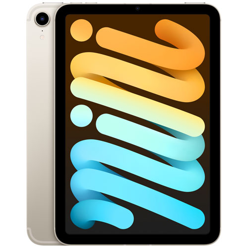"""Apple iPad mini 8.3"""" 256GB with Wi-Fi & 5G - Starlight"""