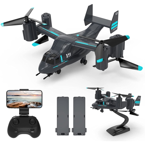 HOCO LM19 Drone Remote Control Airplane with HD Camera for Adults and Kids, Easy & Ready to Fly, 2 Modular Batteries, RC Quadcopter Drones, Great Gif