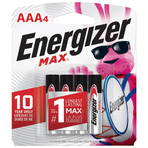 "Energizer ""AAA"" 1.5V 4-Pack Batteries"