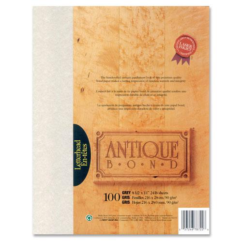 First Base Antique Bond Paper - Letter - 100 Sheets - Grey
