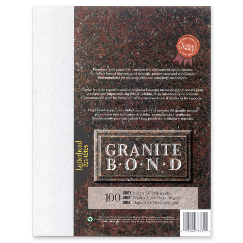 Fisrt Base Granite Bond Paper - 100 Sheets - Grey