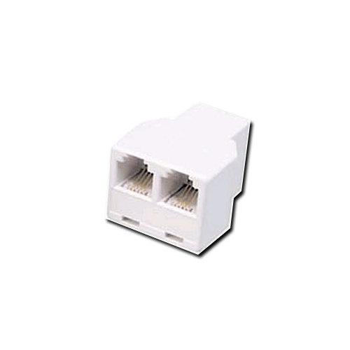 Recoton Modular Duplex Jack - White (T25)
