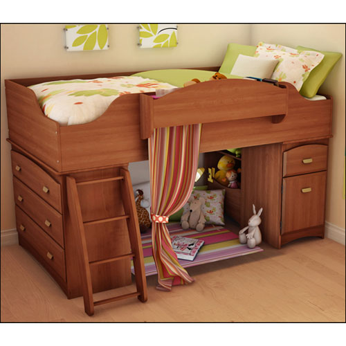 south shore imagine single loft bed morgan cherry kids beds best buy canada