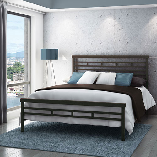 Amisco Highway Modern Queen Metal Bed Cobrizo Beds