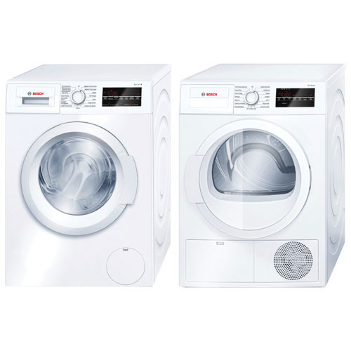 Bosch 2.2 Cu. Ft. High Efficiency Front Load Washer & 4.0 Cu. Ft. Electric Dryer - White