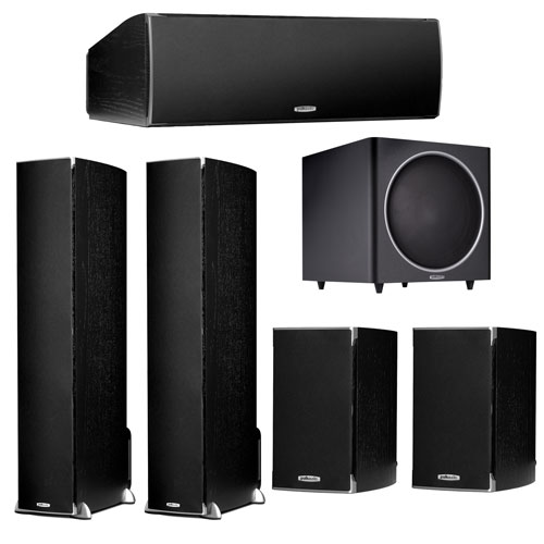 Système de haut-parleurs 5.1 de Polk Audio pour cinéma maison - Noir