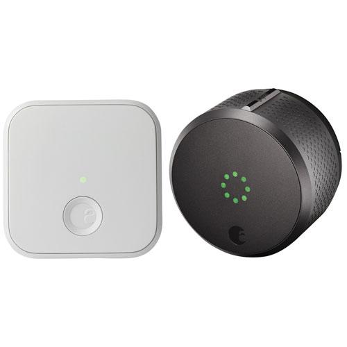 Serrure intelligente compatible HomeKit et accessoire Connect 2e gén. d'August - Gris foncé