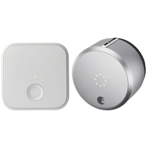 August Smart Lock HomeKit-Enabled & Connect 2nd Gen - Silver