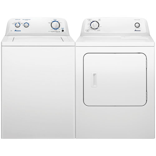 Amana 4 0 Cu Ft Top Load Washer And 6 5 Cu Ft Electric