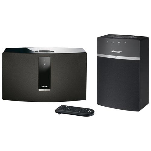 Ensemble de haut-parleurs sans fil SoundTouch 10 et SoundTouch 30 III de Bose - Noir
