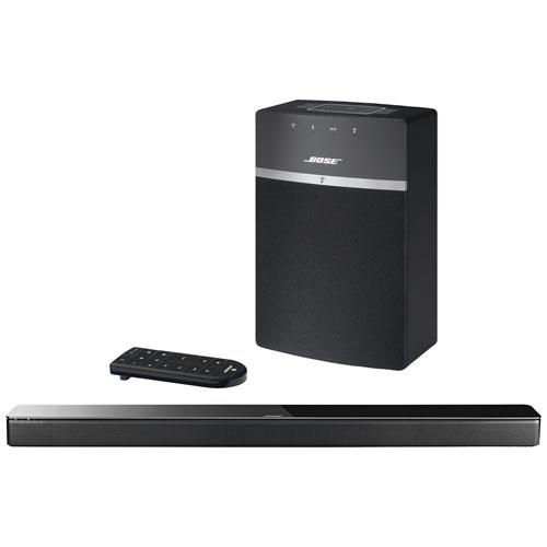 bose soundtouch 10 wireless speaker u0026 soundtouch 300 sound bar bundle black home speakers best buy canada