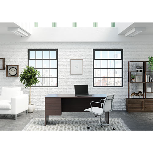 Aspenwood Contemporary Computer Desk - Rich Walnut - Only at Best Buy