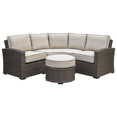 Tropea 4 Piece Patio Conversation Set   Buckeye Brown/Light Brown   Only At
