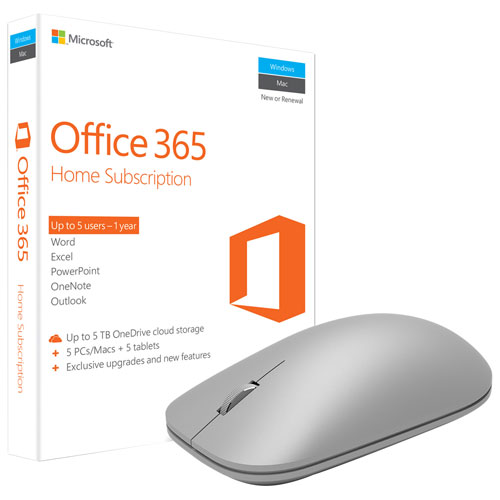 microsoft office 365 home microsoft modern mouse grey english